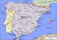 Semenanjung Iberia Yang Merangkumi Spain & Portugal