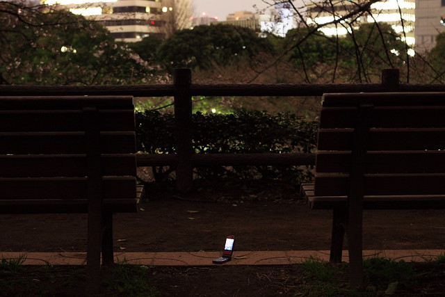 深夜の携帯電話