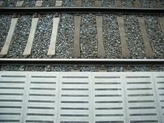 Platform and tracks.