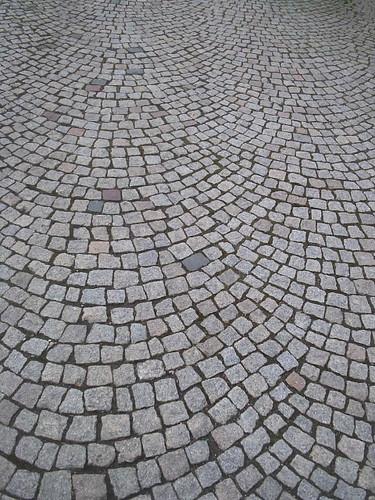 cobblestone sidewalk Strasbourg France