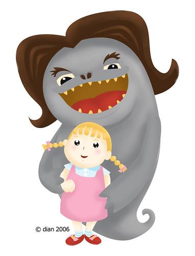 illustration friday: monster