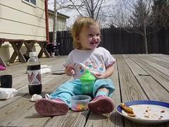 Livi having a snack