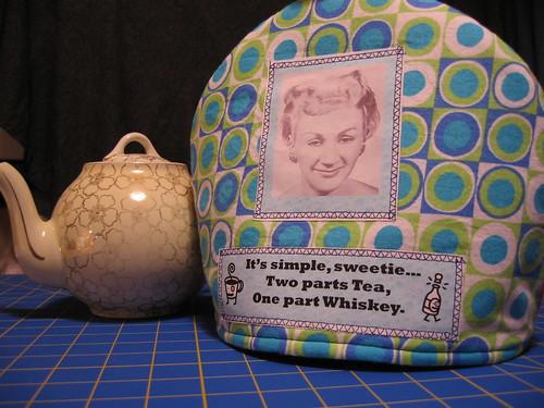 teapot cozy #5 (Drunkard's cozy)