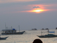 The sun sets over Boracay