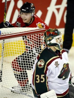 Jamie Lundmark Celebrates a Goal