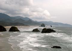 Pacific Ocean at Cannon Beach, Oregon