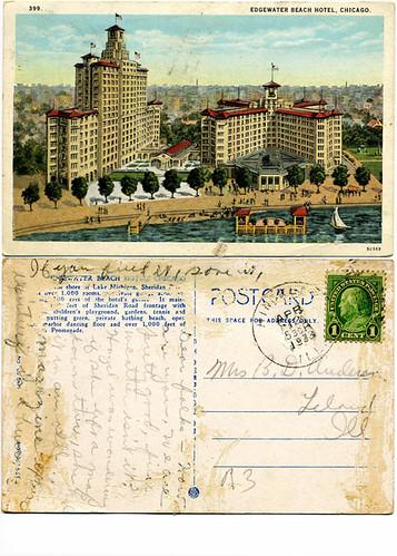 Postcard: Edgewater Beach Hotel