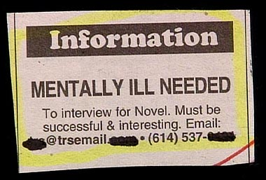 Mentally ill needed, must be successful...