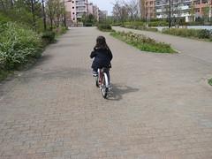 自転車に乗れるようになったよ