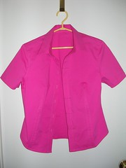 finished pink shirt