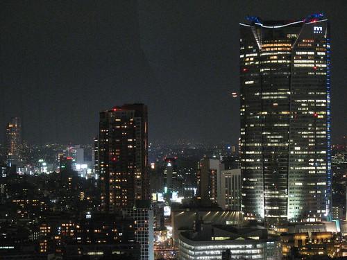 Tokyo po noći - pogled sa Tornja