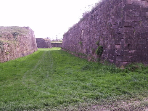 Neuf Brisach defensive wall built by Vauban