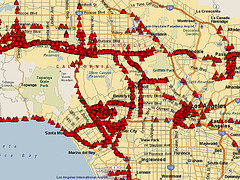 This is a map of access points in and around Los Angeles