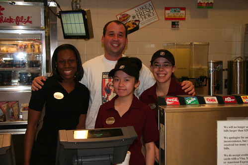 dan and the chick-fil-A girls