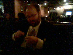 me in a suit knitting