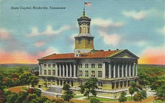 1948 post card of the Capitol from southwest