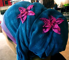 Headwrap in blue