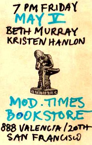 Beth Murray Kristen Modern Times Bookstore May 5 7PM