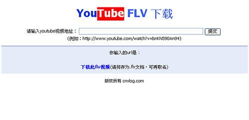 gootube copy?  http://cnvlog.com/flv.asp