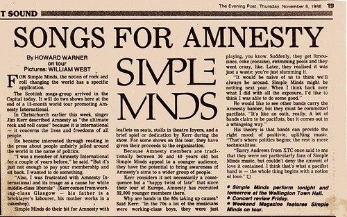 Simple Minds - The Evening Post