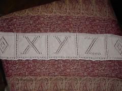 XYZ alphabet blanket