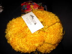Boucle wool yarn from Maryland Sheep and Wool