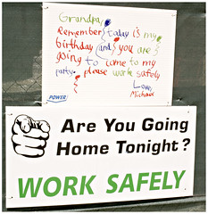 Work Safely guilt trip