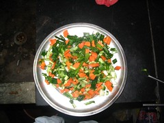 finely chopped vegetables ;)