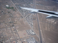 Flying into Las Vegas