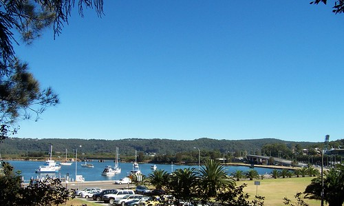 View from the War Memorial Park Mann Street Gosford