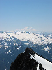 Lennox Mtn And Mt Rainier From Baring Mtn (South Baring In Foreground)