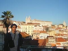 Pemandangan kota Lisbon dari atas Alfama, Lisbon, Portugal