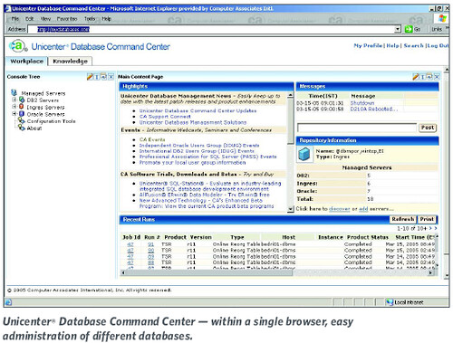 Unicenter® Database Command Center