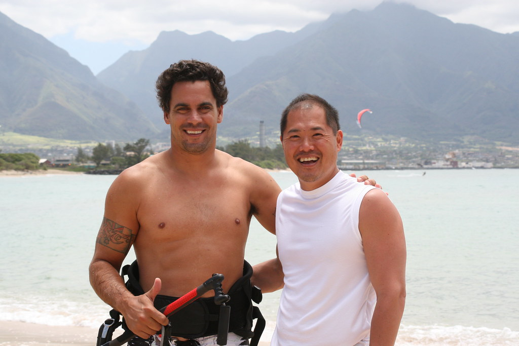 Shannon Best and Bill Tai at Kite Beach, Maui
