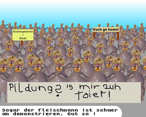 Fleischmann demonstriert gegen Studiengebühren