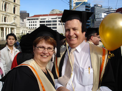 Getting ready to start walking the streets of Wellington in the Graduands' Parade