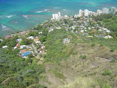 Looking down Diamond Head