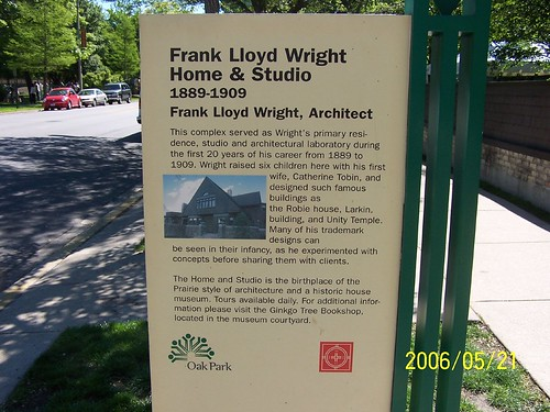In front of Frank Lloyd Wright studio