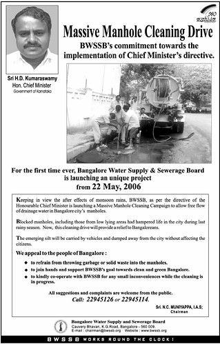 BWSSB Clean-up drive