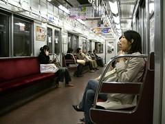 Un vagón del Metro de Kyoto
