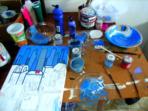 Messy Painting Table