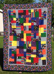 Henry's car quilt, front