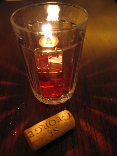 candle and cork