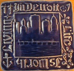 detroit blue pewabic tile