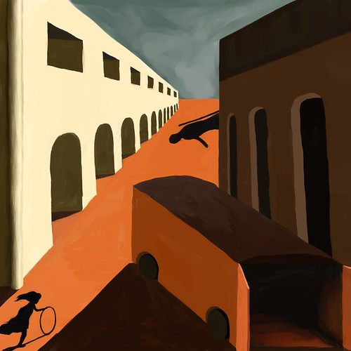 De Chirico-Melancholy of a Street