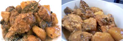 CPA and adobong manok with thick sauce