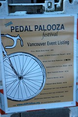 Pedalpalooza sign in Vancouver