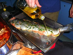 Preparing Baked Salmon