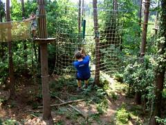 Brett flies towards the cargo net