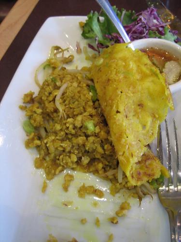 Innards of thai pancake, sugar and spice